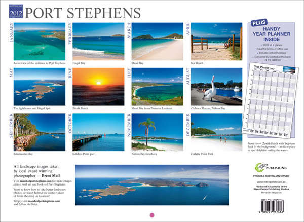 moods of port stephens calendar 2012