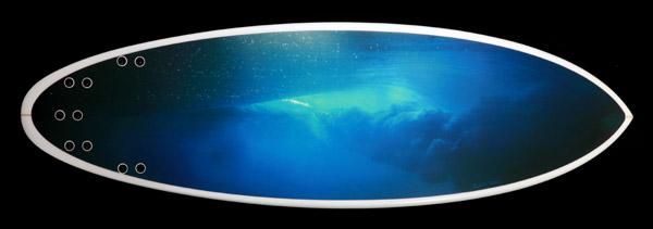photo on surfboard