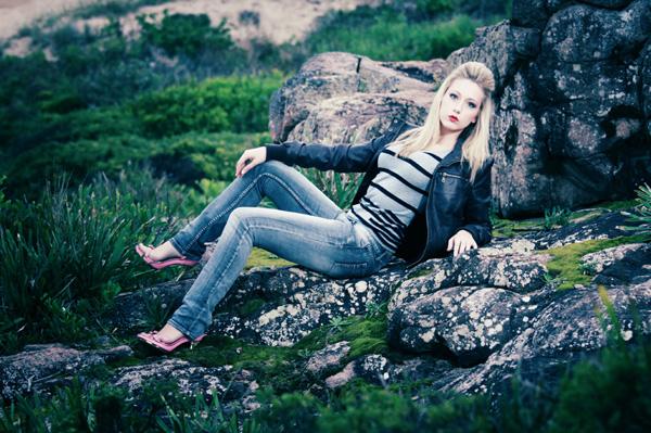 supermodel portfolio photo shoot on the beach