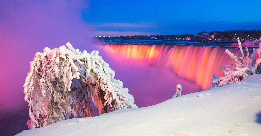 Using a slow shutter speed of 1 second gives the falls a dreamy look